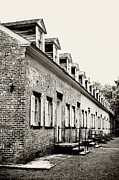 Row Homes Framed Prints - Historic Row Homes Allaire Village Framed Print by Terry DeLuco