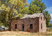 Cache Prints - Historic Ruined Brick Building in Rural Farming Community - Utah Print by Gary Whitton