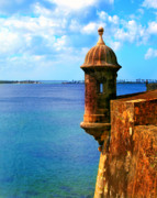 Puerto Rico Framed Prints - Historic San Juan Fort Framed Print by Perry Webster