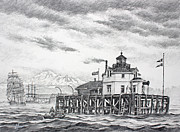 Historic Semiahmoo Lighthouse  Print by James Williamson