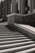 Historic Site Posters - Historic Steps Little Rock Central High School Poster by Brian M Lumley