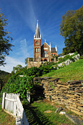 Spire Posters - Historic Stone Church Harpers Ferry Poster by Mark VanDyke