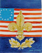 Revolutionary War Painting Originals - Historic Symbols by Joan Landry