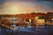 Fox River Posters - Historic Vulcan Paper Mill Poster by Joel Witmeyer