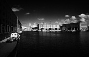 Liverpool Prints - Historic Warehouses In The Basin Area At The Albert Dock Liverpool Merseyside England Uk Print by Joe Fox