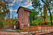 Indiana Autumn Prints - Historic Woods Grist Mill Print by Scott Wood