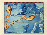 Pisces Photos - Historical Artwork Of The Constellation Of Pisces by Detlev Van Ravenswaay