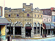 Van Buren Arkansas Posters - Historical Bank Building Poster by Kathy  White
