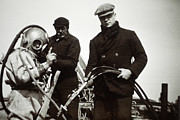 Diving Helmet Photo Posters - Historical Diving Suit Poster by Alexis Rosenfeld