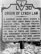 Lynching Framed Prints - Historical Road Marker In Virginia Framed Print by Everett