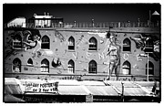 Graffiti Wall Art Posters - History is a Myth black and white Poster by John Rizzuto