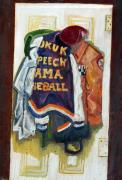 Baseball Uniform Painting Metal Prints - History Metal Print by Jame Hayes