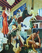 Benton Paintings - History of Water by Pg Reproductions