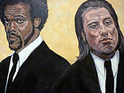 Pulp Fiction Paintings - Hit Men by Tom Roderick
