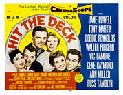 1955 Movies Prints - Hit The Deck, Ann Miller, Tony Martin Print by Everett
