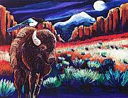 Bison Pastels - Hitching a Ride by Harriet Peck Taylor