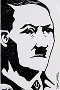 Adolf Drawings - Hitler by Pramod Masurkar