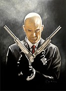Game Painting Prints - Hitman Print by Al  Molina