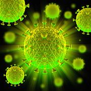 Hiv Particles Print by Mehau Kulyk
