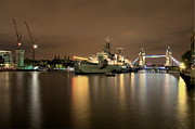 Russell Pheasey - HMS Belfast at Midnight