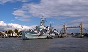 Royal Navy Art - HMS Belfast by Sharon Lisa Clarke