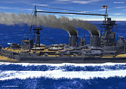 World War One Digital Art - HMS Hood 1937 - Close Two by Christopher Snook