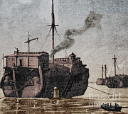 New Jersey History Framed Prints - Hms Jersey, 1777 Framed Print by Photo Researchers