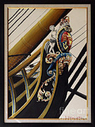 Maritime Art Paintings - HMS Victory bow detail by Rich Holden