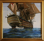 Maritime Art Paintings - HMS Victory by Rich Holden