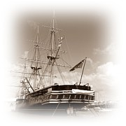 Hms Posters - HMS Warrior Poster by Sharon Lisa Clarke