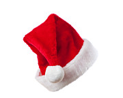 Santa Hat Posters - Ho Ho Ho - Santa Hat Poster by Christopher and Amanda Elwell