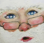 Santa Claus Paintings - Ho Ho Ho by Laura Leigh McCall