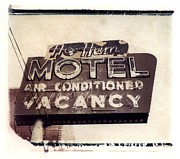 Motel Metal Prints - Ho Hum Motel Metal Print by Jane Linders