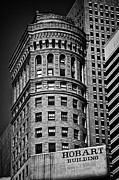 Hobart Posters - Hobart Building in San Francisco - black and white Poster by Hideaki Sakurai