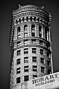 Hobart Posters - Hobart Building in San Francisco ll - black and white Poster by Hideaki Sakurai