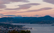 Hobart Posters - Hobart harbour during sunset Poster by Ulrich Schade