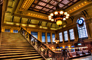 Railroad Stations Prints - Hoboken Terminal Print by Anthony Sacco