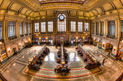 Railway Terminal Framed Prints - Hoboken Terminal Main Waiting Room I Framed Print by Clarence Holmes