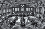 Terminal Prints - Hoboken Terminal Main Waiting Room II Print by Clarence Holmes