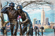 Chris Lord Metal Prints - Hoboken War Memorial Metal Print by Chris Lord