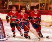 Hockey At The Forum Print by Carole Spandau