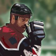 Hockey Illustration Print by Lucas Armstrong