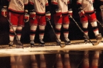 Hockey Photos - Hockey Reflection by Karol  Livote