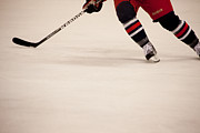 Puck Metal Prints - Hockey Stride Metal Print by Karol  Livote