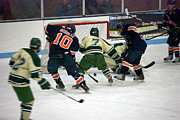 Hockey Two On Two Print by Thomas Woolworth