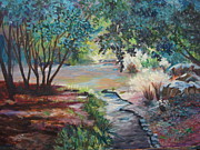 Bayous Painting Originals - Hodges Gardens by Anne Dentler