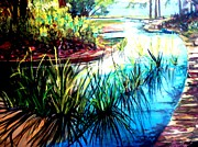 Bayous Painting Prints - Hodges Gardens Reflections Print by AnnE Dentler