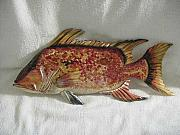 Men Reliefs - Hog Fish 2-SOLD by Lisa Ruggiero