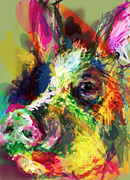 Pig Digital Art Metal Prints - Hog Metal Print by James Thomas