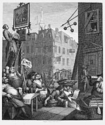 Satire Framed Prints - Hogarth: Beer Street Framed Print by Granger